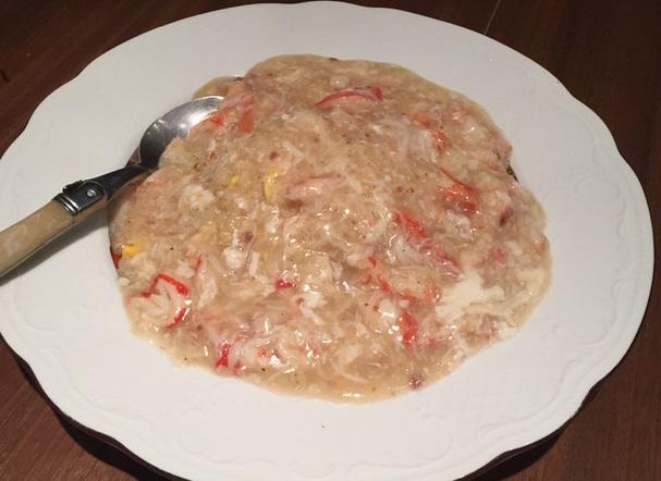 ずわい蟹のあんかけ炒飯